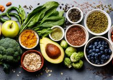 fruit, vegetables, nuts, spices and other healthy foods
