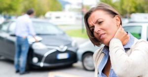 Whiplash injury after a car accident