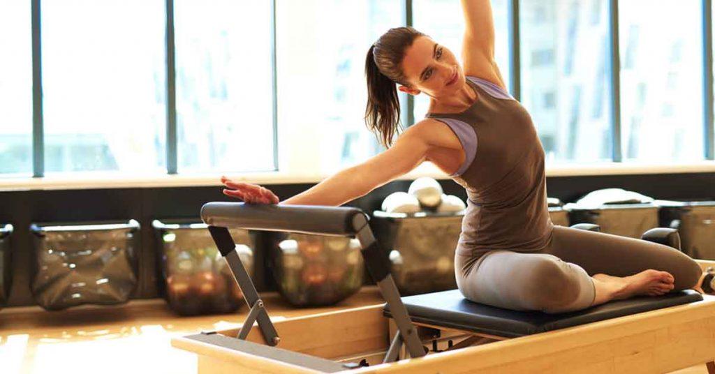 woman doing pilates exercise